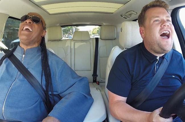 "Stevie Wonder James Corden Carpool Karaoke ""The Late Late Show with James Corden"""