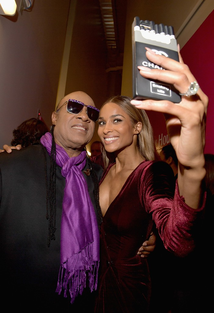Stevie Wonder and Ciara at the 2016 Billboard Music Award