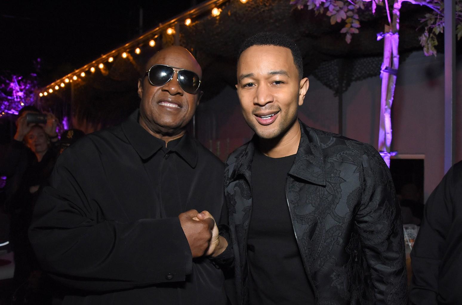 Stevie Wonder and John Legend
