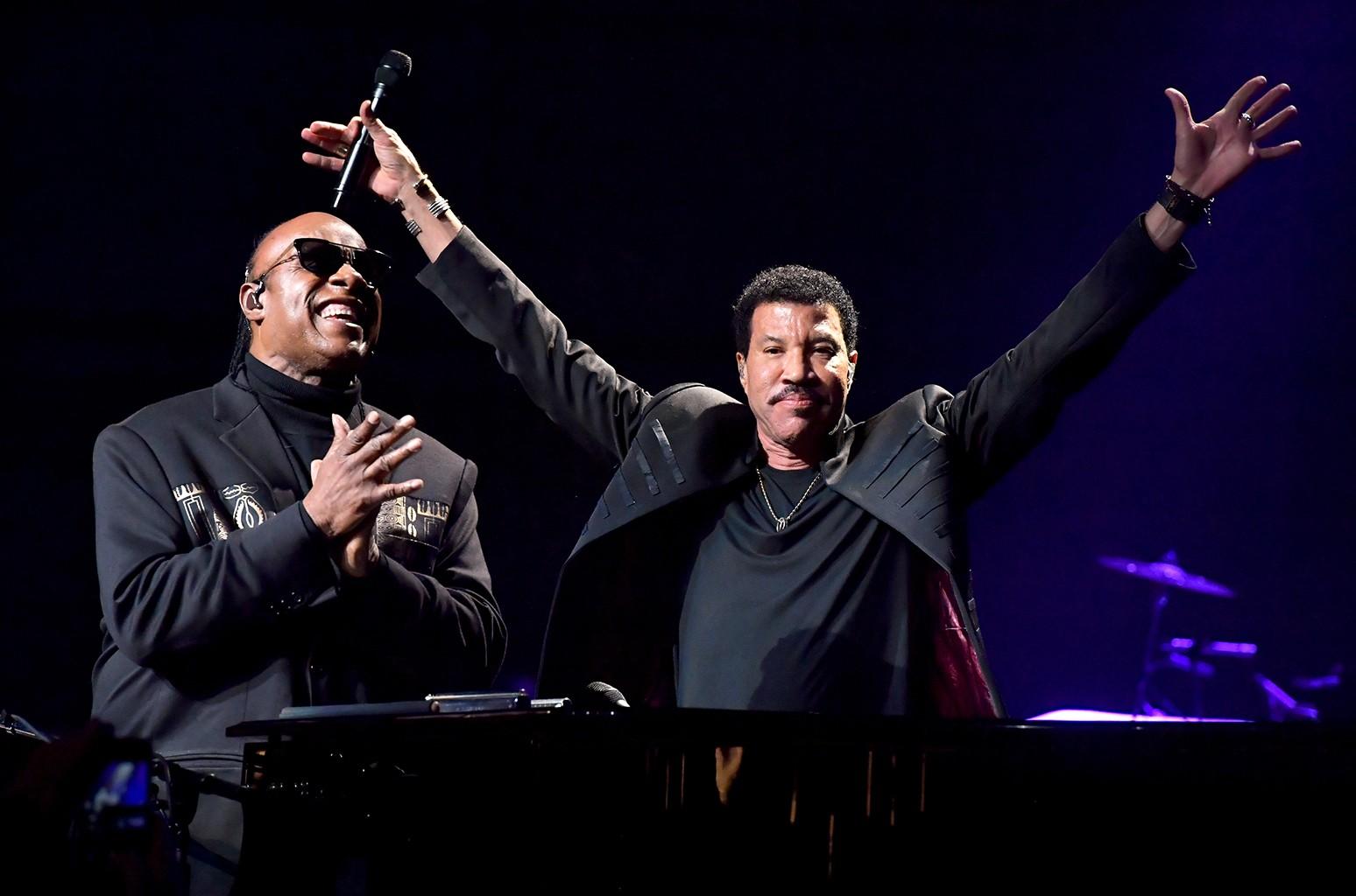 Stevie Wonder and Lionel Richie