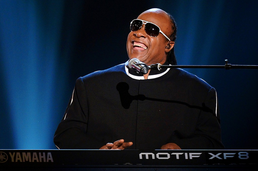 Stevie Wonder performs during the 48th Annual Academy of Country Music Awards at the MGM Grand Garden Arena on April 7, 2013 in Las Vegas.