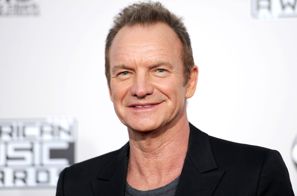 Sting arrives at the 2016 American Music Awards at Microsoft Theater on Nov. 20, 2016 in Los Angeles.