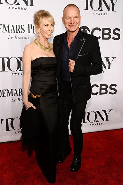 Trudie Styler and Sting attend the 68th Annual Tony Awards