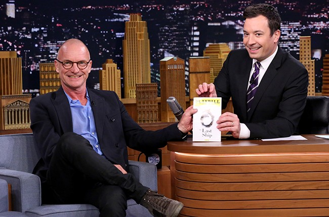 Sting during an interview with host Jimmy Fallon in The Tonight Show