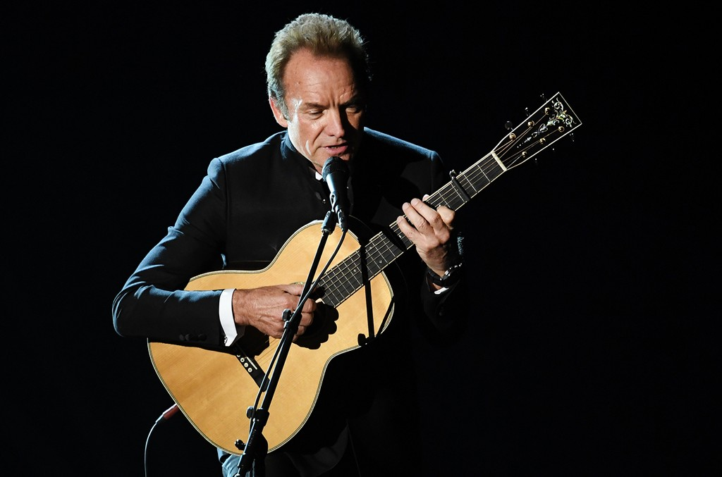 Sting performs onstage during the 89th Annual Academy Awards at Hollywood & Highland Center on Feb. 26, 2017 in Hollywood, Calif.