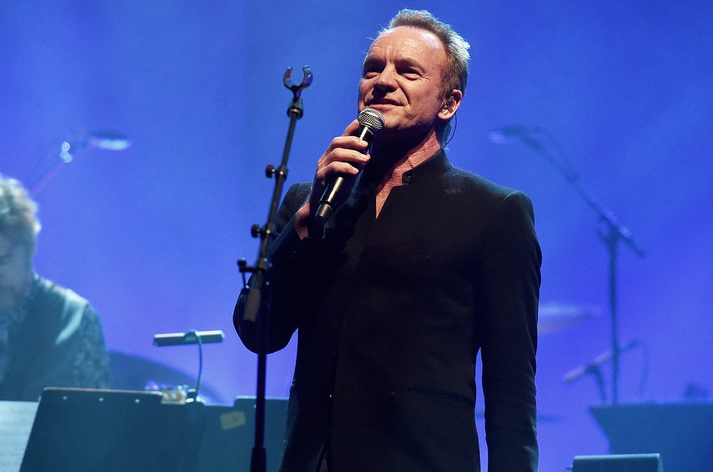 Sting performs at Celebrating David Bowie at the Wiltern Theatre on January 24, 2017 in Los Angeles