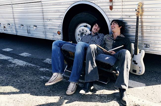 band touring tour bus fake band