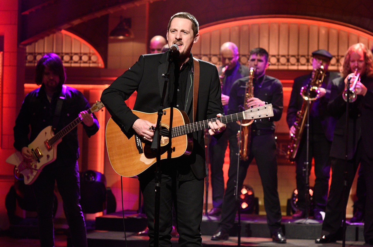 Sturgill Simpson performs on 'Saturday Night Live' on Jan. 14, 2017.