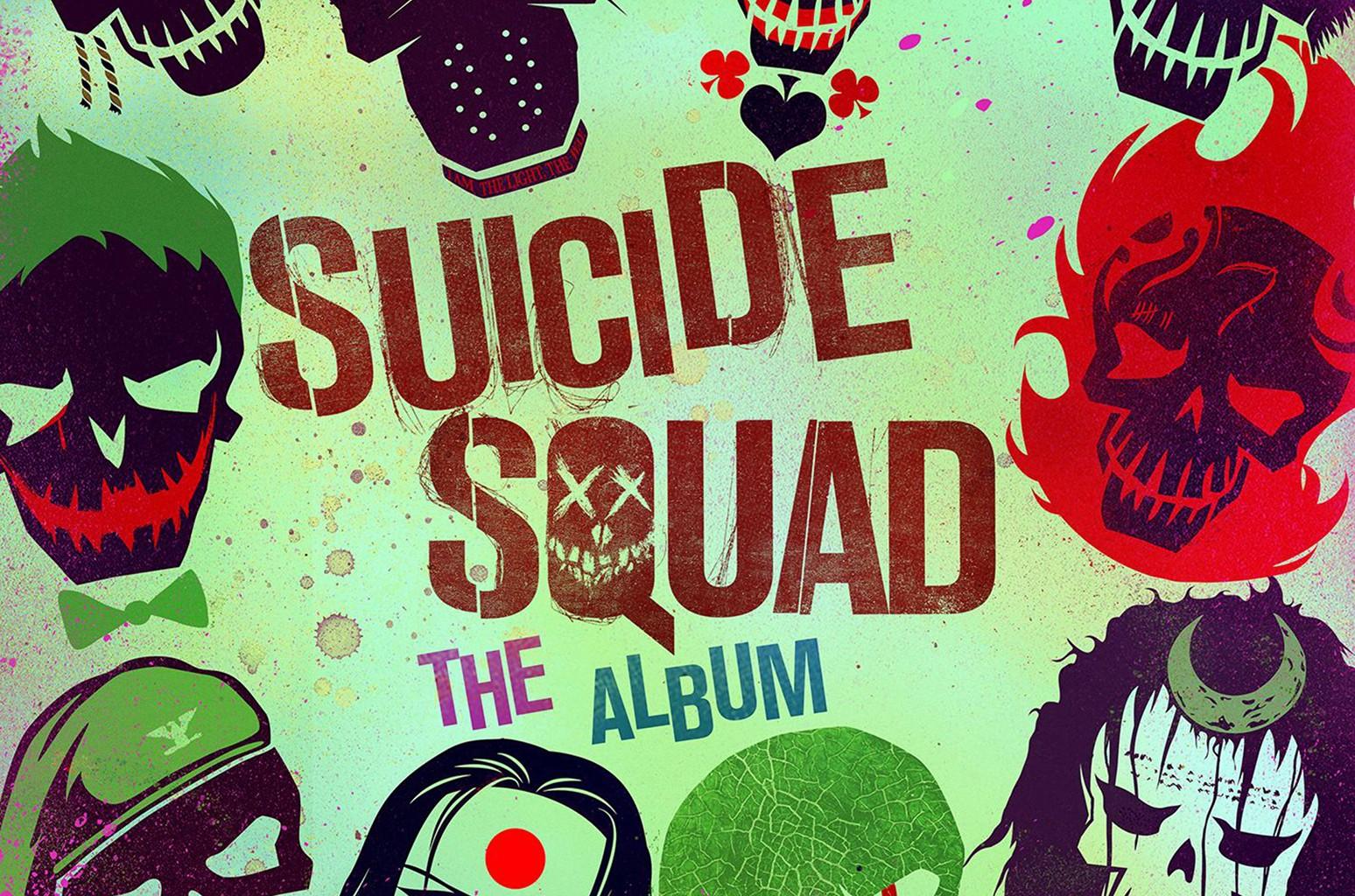 "Cover art for ""Suicide Squad: The Album."""