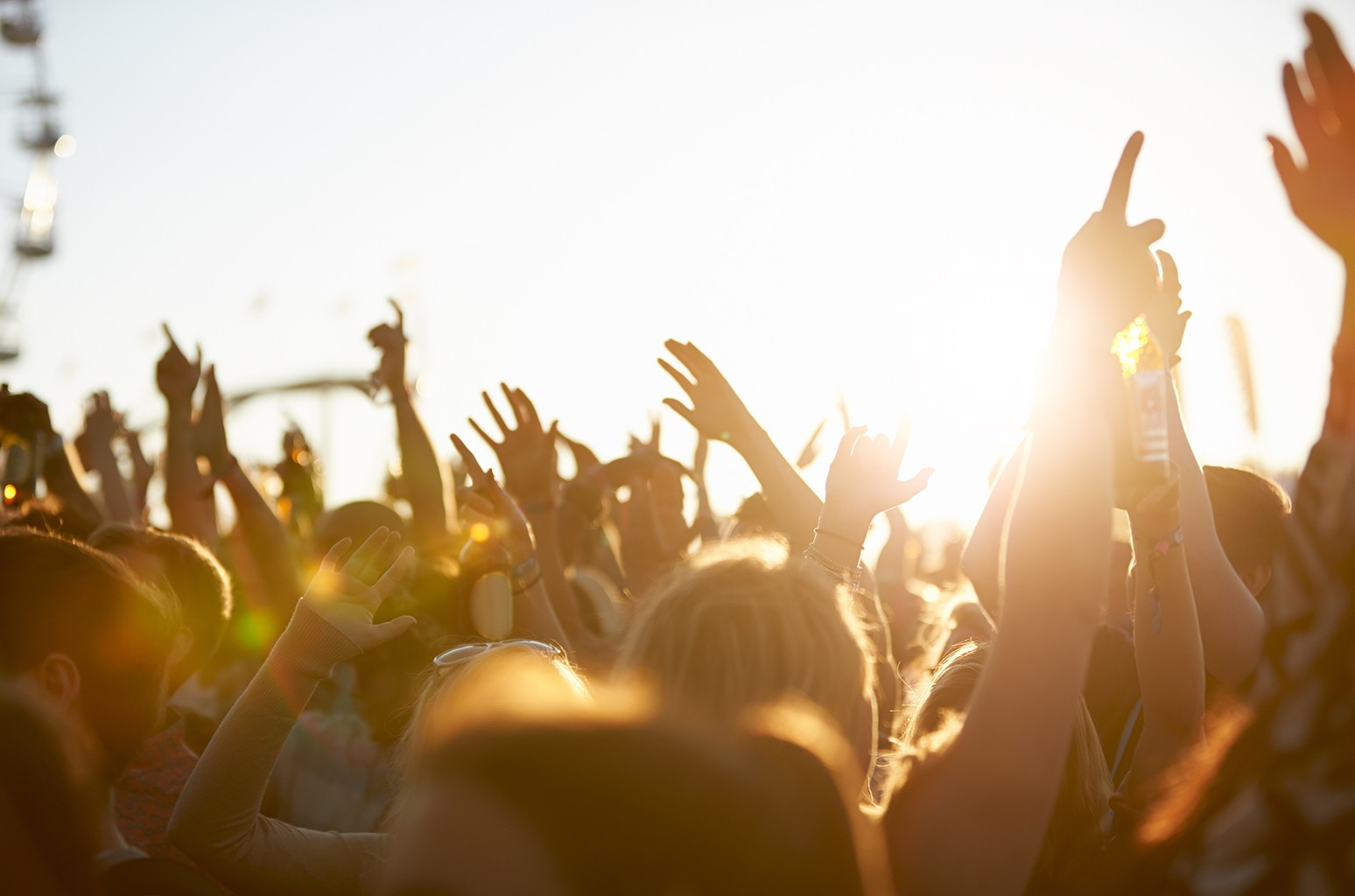 Atmsophere at a summer music festival