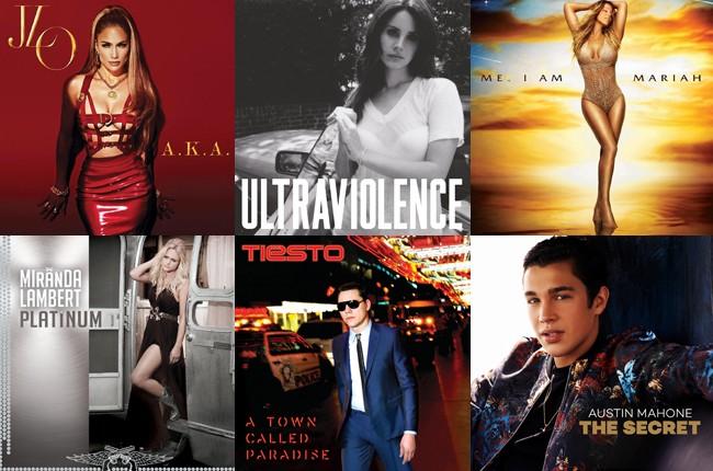 JLo, Lana Del Rey, Mariah Carey, Miranda Lambert, Tiesto, and Austin Mahone