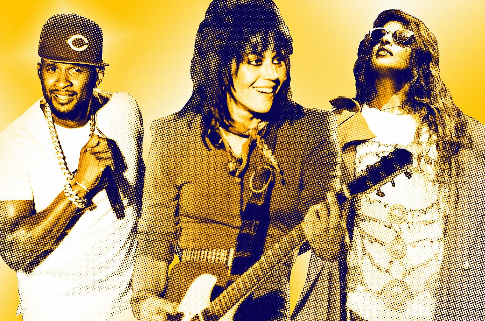 From left: Usher, Joan Jett & M.I.A.