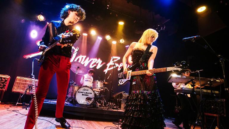 <p>Nick Kivlen, Jacob Faber, Julia Cumming and Danny Ayala of Sunflower Bean perform at Warsaw on Dec. 7, 2018 in Brooklyn, New York.</p>