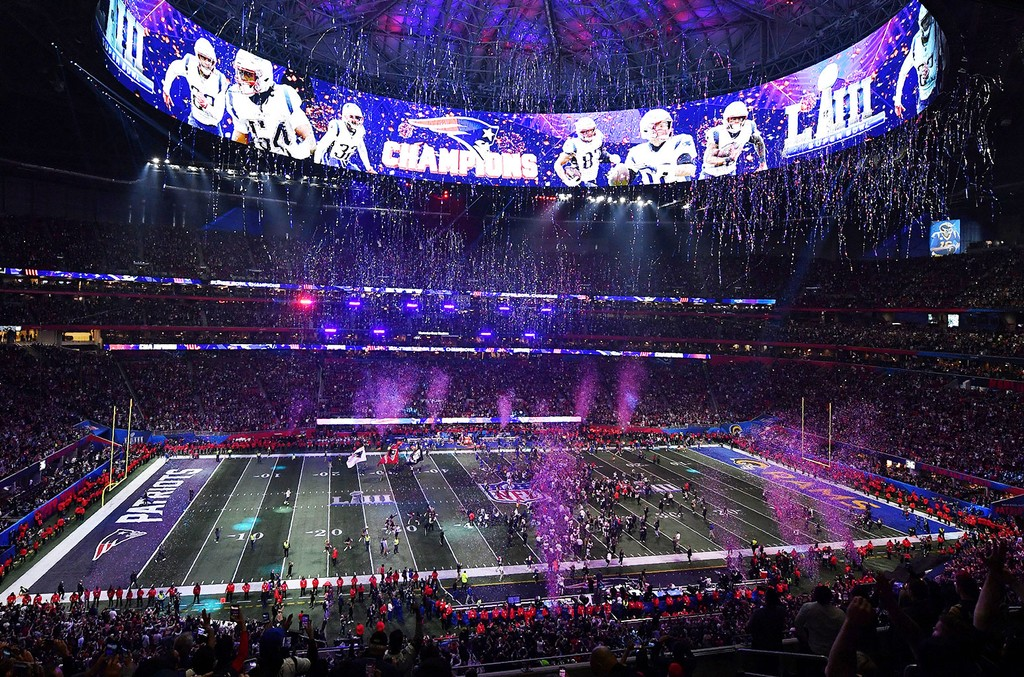 New England Patriots won Super Bowl LIII against the Los Angeles Rams at Mercedes-Benz Stadium in Atlanta on Feb. 3, 2019.