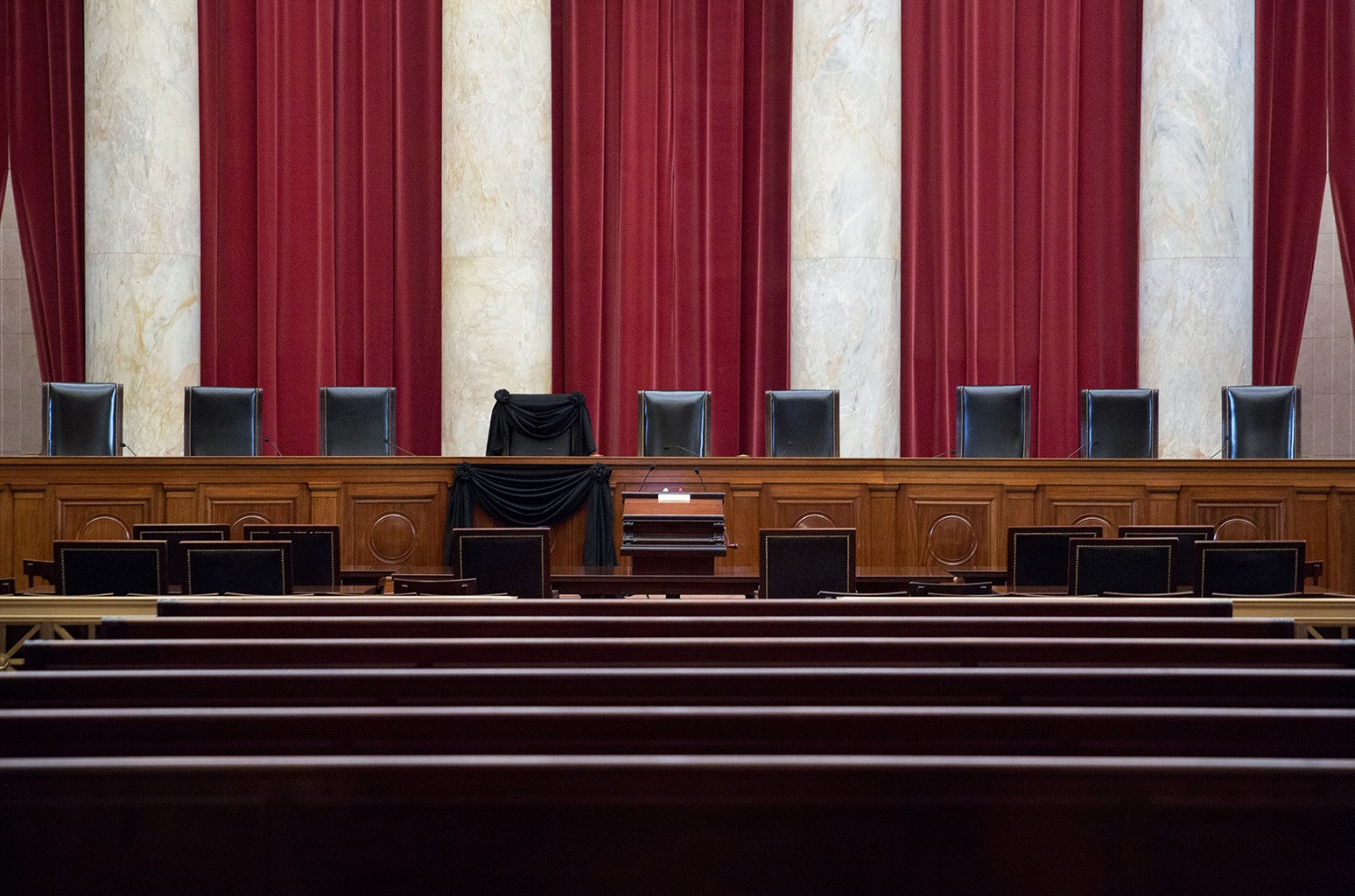 The Supreme Court courtroom