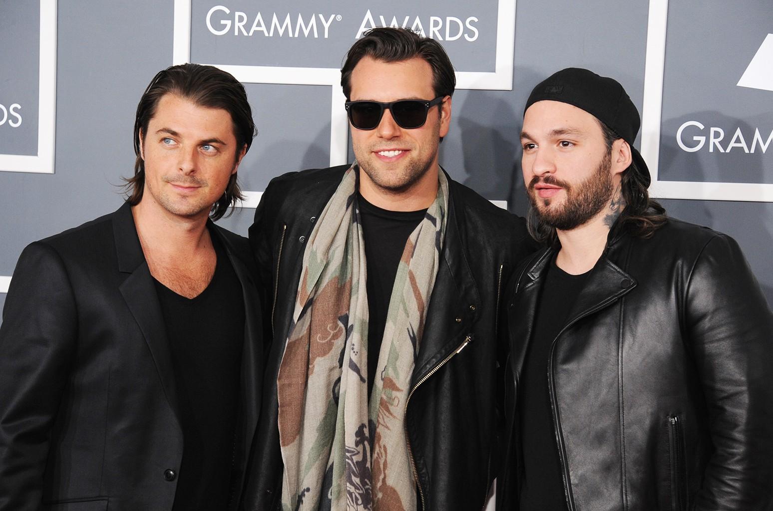 Swedish House Mafia attend the 55th Annual Grammy Awards