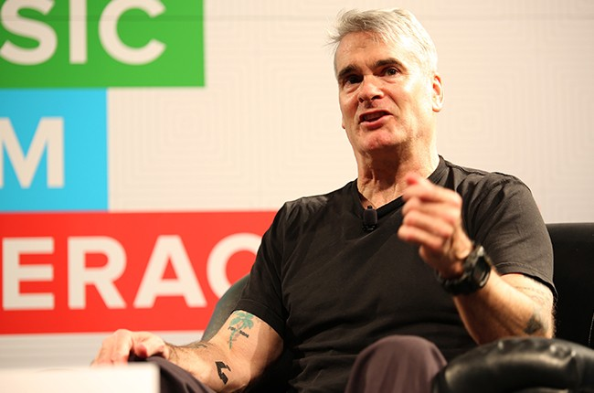 Henry Rollins speaks onstage at 'A Conversation With Henry Rollins' during the 2015 SXSW