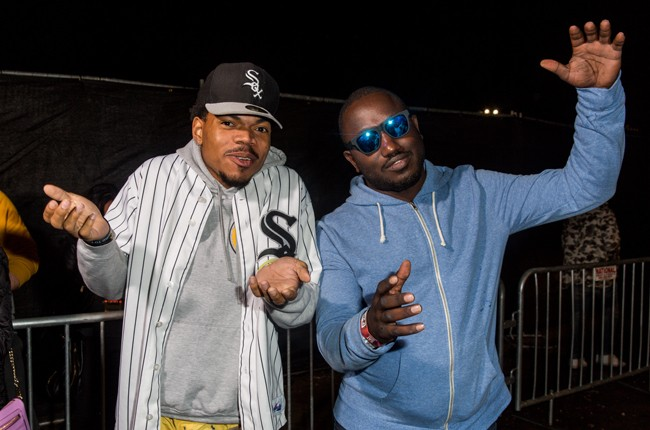 Chance the Rapper and Hannibal Buress attend The Fader Fort Presented by Converse during SXSW