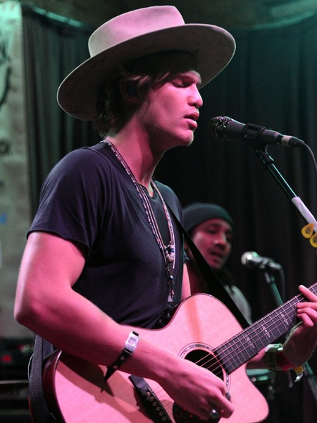 Cody Simpson performs onstage at the Rachel Ray Feedback Party at Stubbs BBQ SXSW