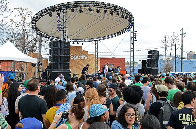 Odesza perform at the Spotify House at SXSW 2015