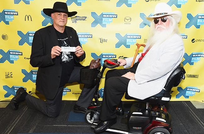 """Executive producer Harrod Blank and musician Leon Russell attend the """"A Poem Is A Naked Person"""" premiere during the 2015 SXSW"""