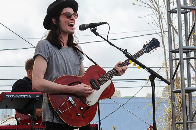 James Bay performs at the Spotify House at SXSW 2015 on March 19, 2015 in Austin, Tx.