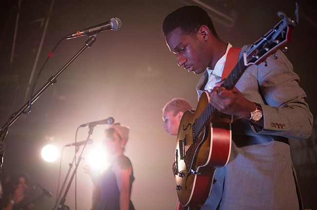 Leon Bridges performs at the Gorilla Vs. Bear Showcase at Hype Machine's Hype Hotel on March 19, 2015 in Austin, Tx during SXSW.