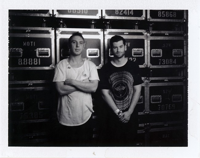 Odesza backstage at The Syndicate's Conflict of Interest SXSW event at Hype Machine's Hype Hotel