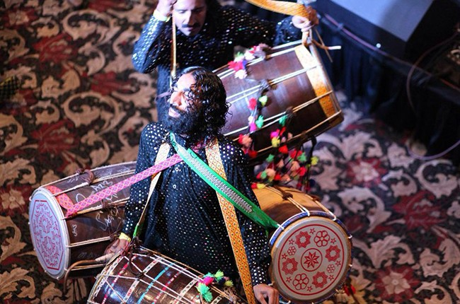 Sain Tanveer Brothers performing Wednesday night at the first ever Pakistan showcase at the Victorian Room at the Driskill Hotel sxsw 2015