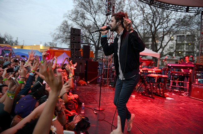 Michael Angelakos of Passion Pit performs at the Spotify House at SXSW 2015 on March 19, 2015 in Austin, Tx.