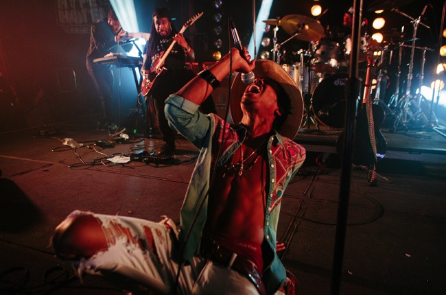 Raury performs at the Crack In The Road + Disco Naivete Showcase at Hype Machine's Hype Hotel during SXSW