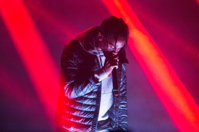 Travis Scott performs onstage at The Fader Fort Presented by Converse during SXSW