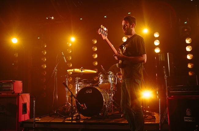 Viet Cong performs at the Consequence Of Sound Showcase at Hype Machine's Hype Hotel on March 19, 2015 in Austin, Tx during SXSW.