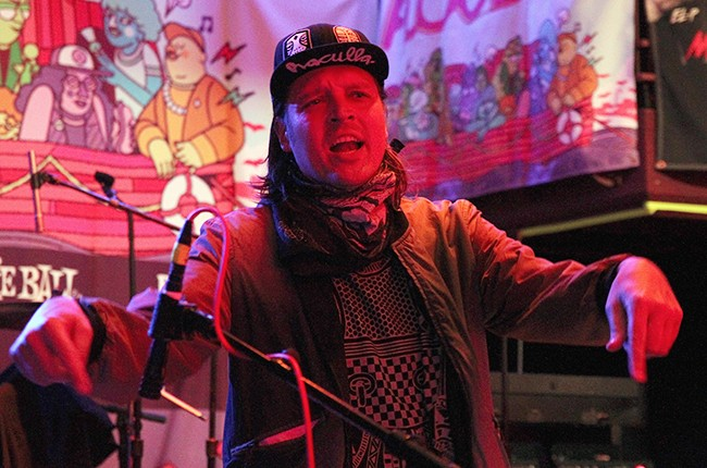 DJ Windows 98 (Win Butler) performs onstage at the Anthemic showcase during the 2015 SXSW
