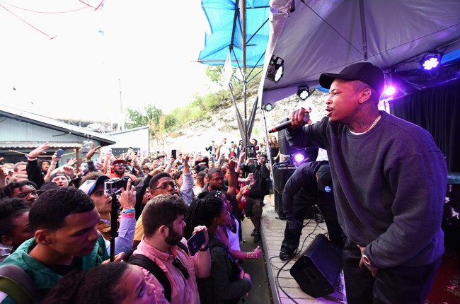 YG performs at the AXE White Label Collective Party powered by SPIN at SXSW