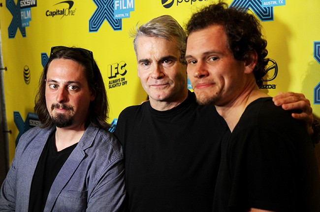 """Zach Hagen, Henry Rollins, and Jason Krawczyk attend the premiere of """"He Never Died"""" during the 2015 SXSW"""