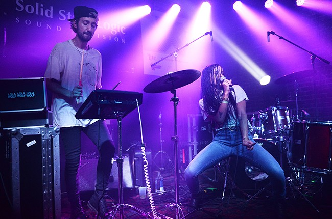 Zoe Kravitz of Lolawolf perform onstage during the Wreckroom official SXSW 2015