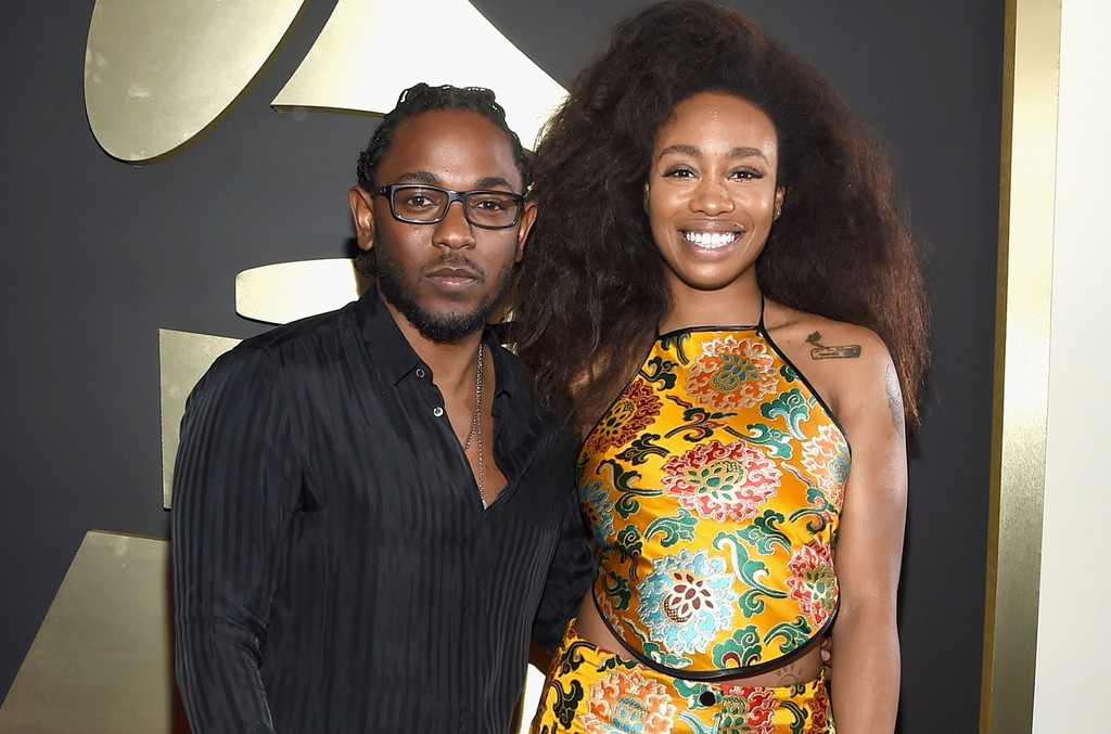 Kendrick Lamar and SZA attend The 58th GRAMMY Awards at Staples Center on Feb. 15, 2016 in Los Angeles.