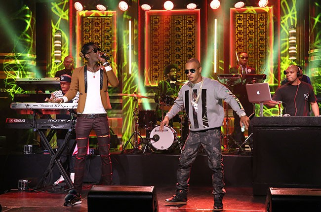 T.I. performs with Young Thug and The Roots
