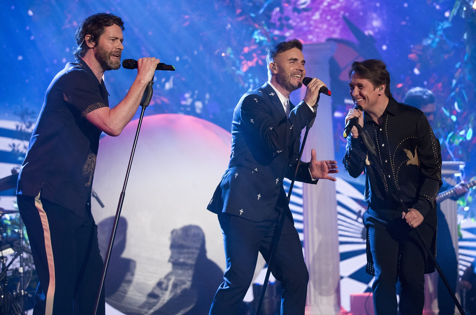 Take That perform on The Graham Norton Show at The London Studios.
