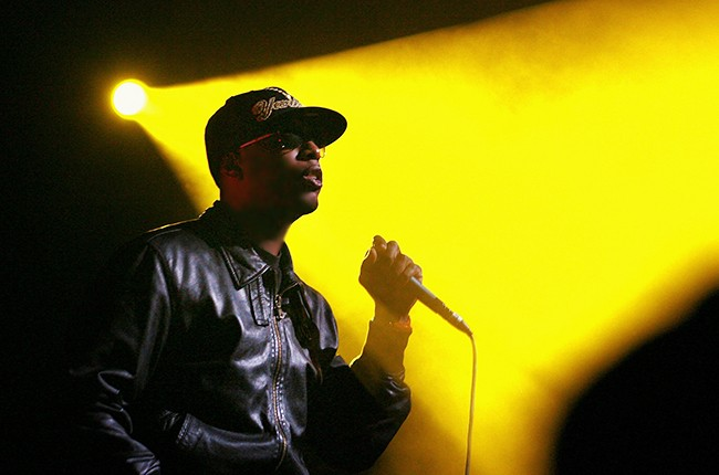 Talib Kweli performs on stage in concert at The Enmore Theatre inSydney.