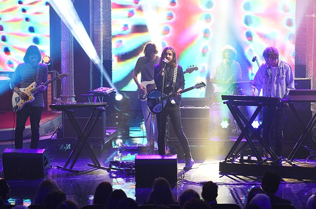 """Tame Impala performs on """"The Late Show with Stephen Colbert"""""""