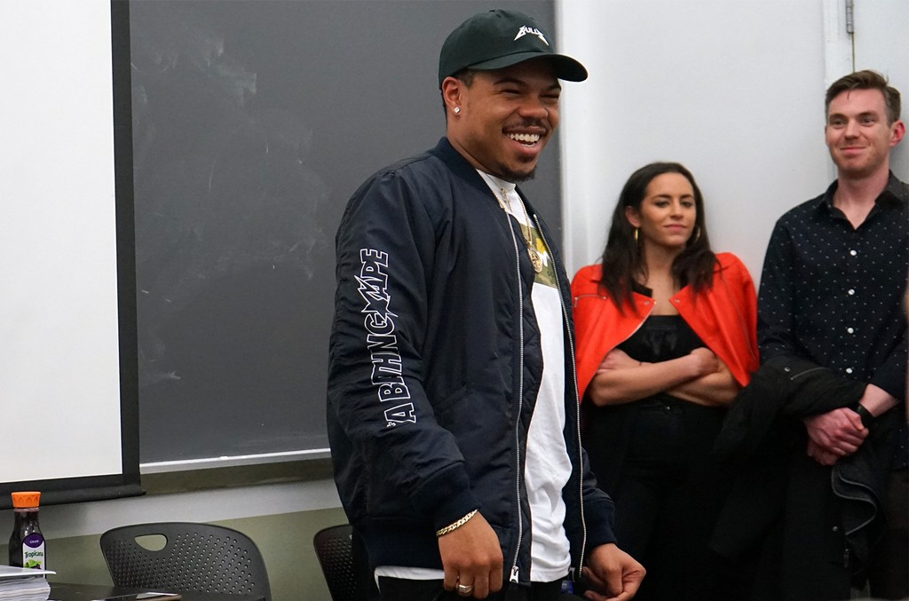 Taylor Bennett gives a talk at the Clive Davis Institute at NYU.