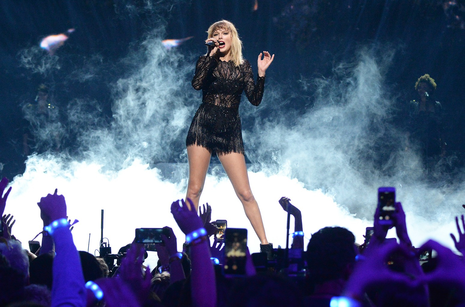 Taylor Swift performs during the 2017 DIRECTV NOW Super Saturday Night Concert at Club Nomadic on Feb. 4, 2017 in Houston.