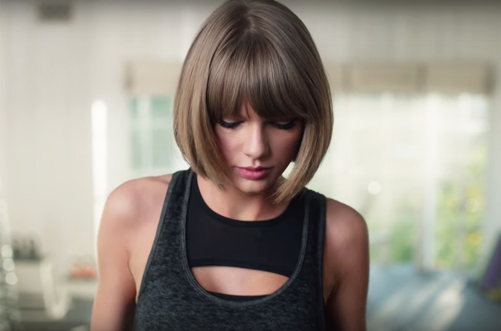 Taylor Swift in an ad for Apple Music