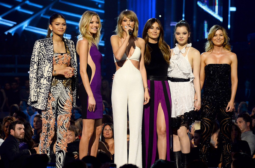 Zendaya, Martha Hunt, Taylor Swift, Lily Aldridge, Hailee Steinfeld and Ellen Pompeo