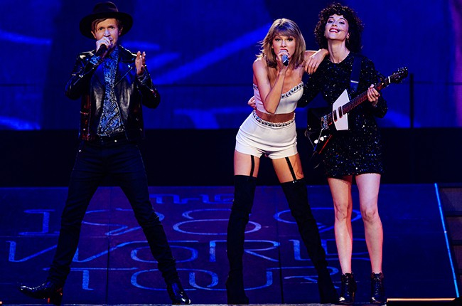 Taylor Swift, Beck and St Vincent