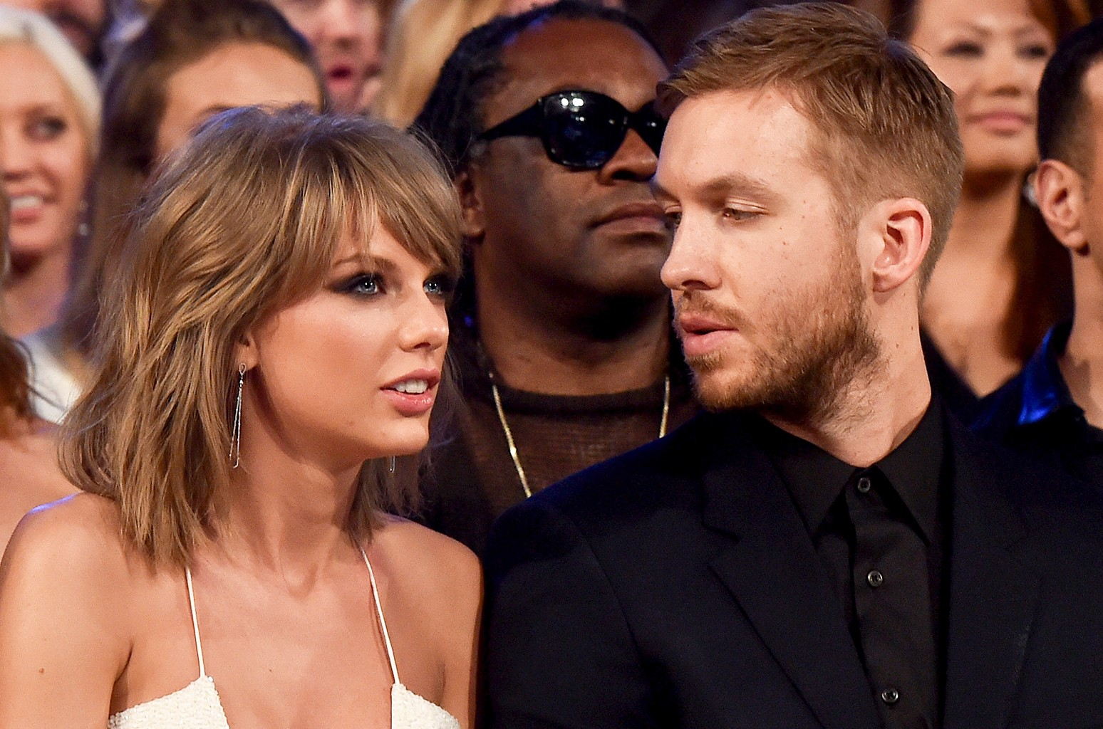 Taylor Swift and Calvin Harris attend the 2015 Billboard Music Awards