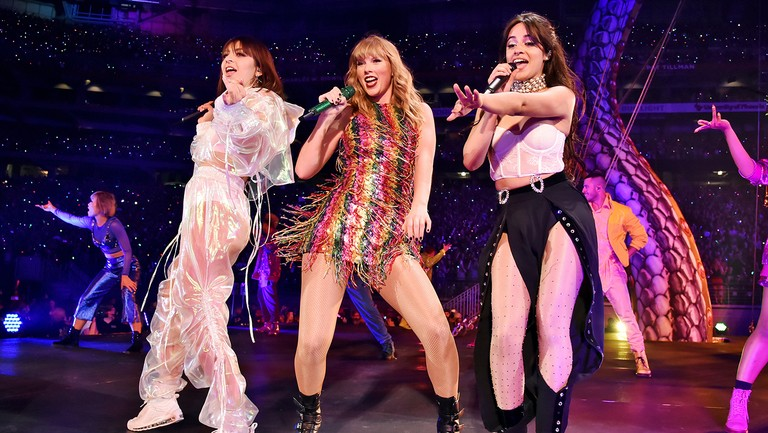 <p>Charli&nbsp&#x3B;XCX, Taylor Swift and&nbsp&#x3B;Camila&nbsp&#x3B;Cabello&nbsp&#x3B;perform onstage during opening night of Taylor Swift&#39&#x3B;s 2018 Reputation Stadium Tour at University of Phoenix Stadium on May 8, 2018 in Glendale, Ariz.&nbsp&#x3B;</p>