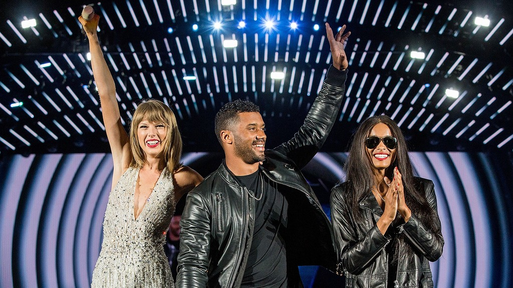 Taylor Swift, Russell Wilson and Ciara 1989 World Tour